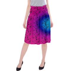 Pink Music Blue  Moon Midi Beach Skirt