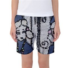 Pixie Girl Stained Glass Women s Basketball Shorts