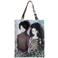 Dolls Stained  Glass Zipper Classic Tote Bag