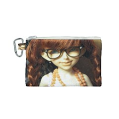 Red Braids Girl Canvas Cosmetic Bag (small) by snowwhitegirl