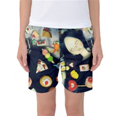Food Women s Basketball Shorts
