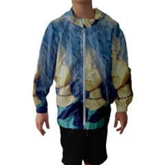 Blue Hair Boy Hooded Windbreaker (kids)