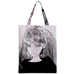 Girl Zipper Classic Tote Bag