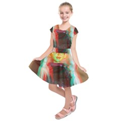 Eating Lunch 3d Kids  Short Sleeve Dress