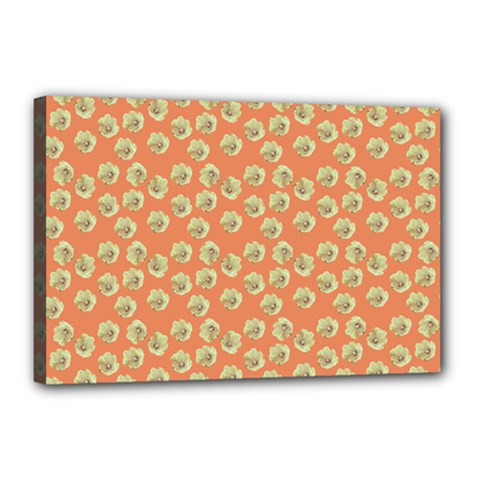 Antique Flowers Peach Canvas 18  X 12  by snowwhitegirl