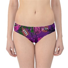 Purple  Rose Vampire Hipster Bikini Bottoms