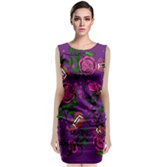 Purple  Rose Vampire Classic Sleeveless Midi Dress