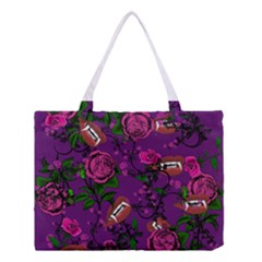 Purple  Rose Vampire Medium Tote Bag by snowwhitegirl