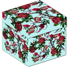 Light Blue Rose Vampire Storage Stool 12   by snowwhitegirl