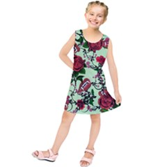Green Rose Vampire Kids  Tunic Dress