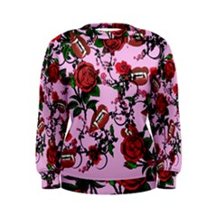 Pink Rose Vampire Women s Sweatshirt