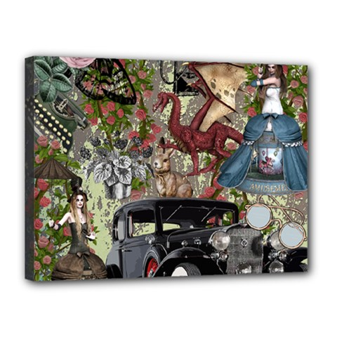 Steampunk Collage Canvas 16  X 12