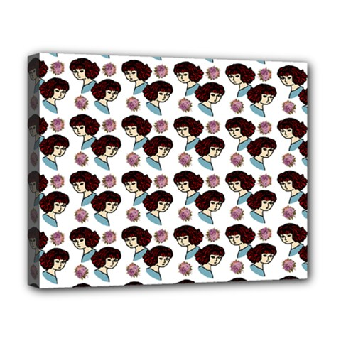 Redhead Girl Pattern Deluxe Canvas 20  X 16
