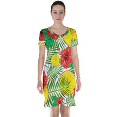 Orange Tropics Short Sleeve Nightdress