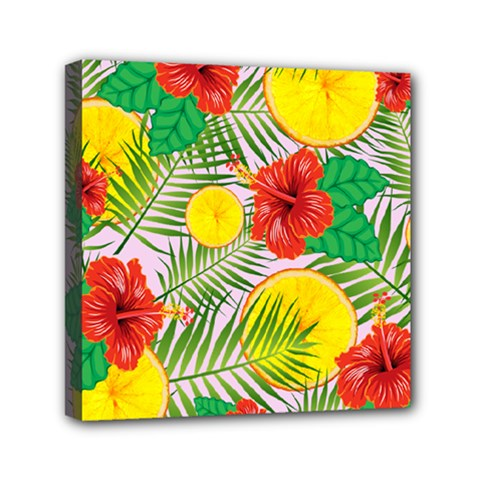 Orange Tropics Pink Mini Canvas 6  X 6  by snowwhitegirl