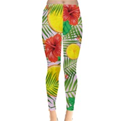 Orange Tropics Pink Leggings