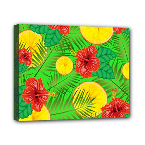 Orange Tropics Green Canvas 10  X 8  by snowwhitegirl