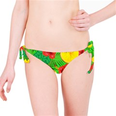 Orange Tropics Green Bikini Bottom