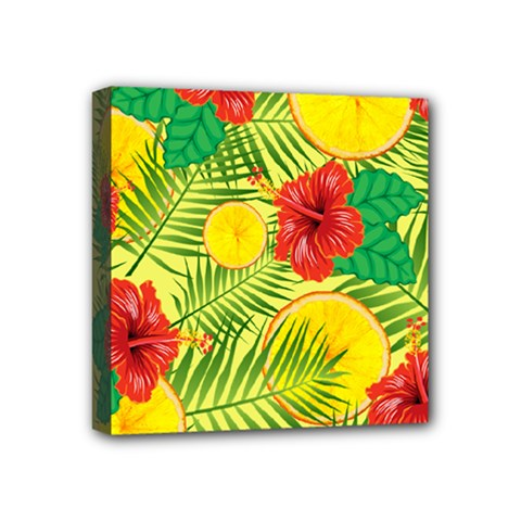 Orange Tropics Yellow Mini Canvas 4  X 4  by snowwhitegirl