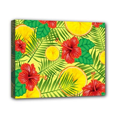 Orange Tropics Yellow Canvas 10  X 8