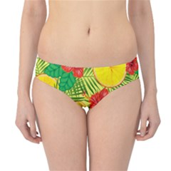 Orange Tropics Yellow Hipster Bikini Bottoms