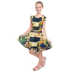 School Of Pets Kids  Short Sleeve Dress