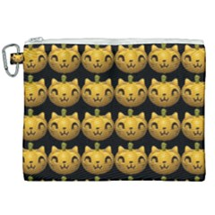 Cat Pumpkin Canvas Cosmetic Bag (xxl)