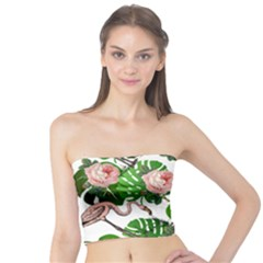 Flamingo Floral White Tube Top