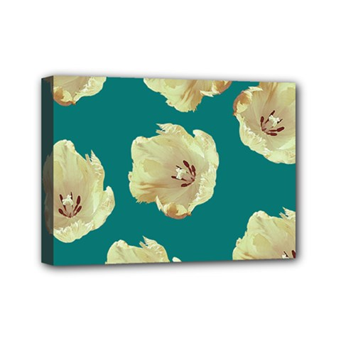 Teal Tulips Mini Canvas 7  X 5  by snowwhitegirl