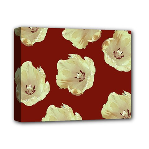 Red Tulips Deluxe Canvas 14  X 11