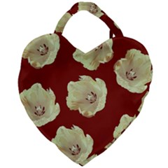 Red Tulips Giant Heart Shaped Tote
