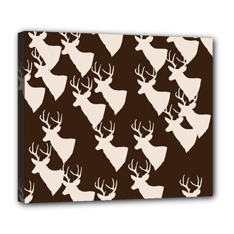 Brown Deer Pattern Deluxe Canvas 24  X 20