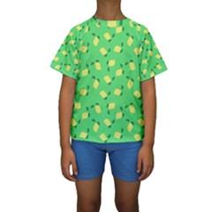 Lemons Green Kids  Short Sleeve Swimwear