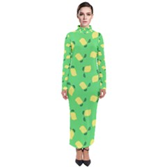 Lemons Green Turtleneck Maxi Dress