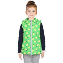 Lemons Green Kid s Hooded Puffer Vest