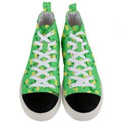 Lemons Green Men s Mid Top Canvas Sneakers