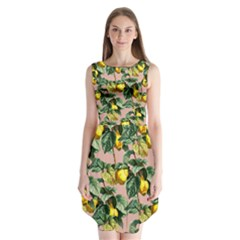 Fruit Branches Sleeveless Chiffon Dress