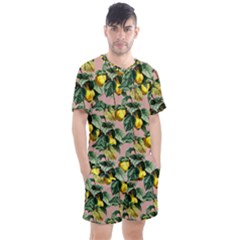 Fruit Branches Men s Mesh Tee And Shorts Set
