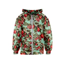 Fruit Branches Green Kids  Zipper Hoodie
