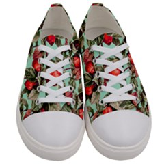 Fruit Branches Green Women s Low Top Canvas Sneakers