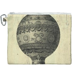 Vintage Air Balloon Canvas Cosmetic Bag (xxxl)