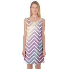 Ombre Zigzag 01 Sleeveless Satin Nightdress