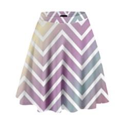 Ombre Zigzag 01 High Waist Skirt