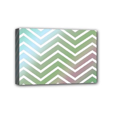 Ombre Zigzag 02 Mini Canvas 6  X 4