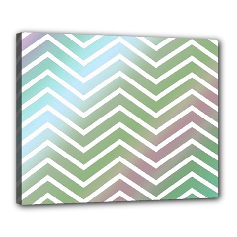 Ombre Zigzag 02 Canvas 20  X 16