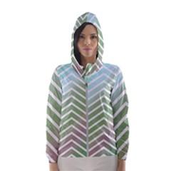 Ombre Zigzag 02 Hooded Windbreaker (women)