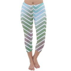 Ombre Zigzag 02 Capri Winter Leggings