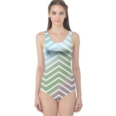 Ombre Zigzag 02 One Piece Swimsuit