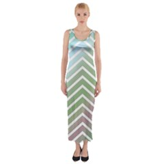 Ombre Zigzag 02 Fitted Maxi Dress