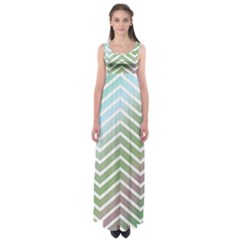 Ombre Zigzag 02 Empire Waist Maxi Dress